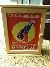 Coca-Cola wall cabinet wooden wood Its the Real Thing Drink door Coke bottle bar