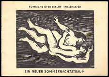 Theaterprogramm, Komische Oper Berlin, Ein neuer Sommernachtstraum, 1980