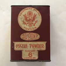 DuPont Pistol Powder Can No.6 Lot No.23
