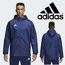 adidas Core 18 Team Rain Jacket Navy Blue Water Resistant Sports Track Coat S