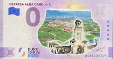 BILLET 0  EURO CETATEA ALBA CAROLINA  ROUMANIE COULEUR  2021  NUMERO DIVERS