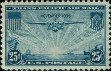 #C20 1937 25c CHINA CLIPPER AIRMAIL ISSUE MINT-OG/NH--XF