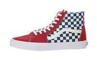 Vans Men Women Shoes Sk8 Hi BMX Checkerboard True Blue Red White