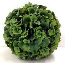 "PVC Galax Leaf Kissing Ball/Orb. Green. 10"". Great for: Basket, Arrangement, etc"