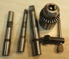 JACOBS CAT 31-02 2S 0- 3/8 0-10mm Drill Chuck w/ Key + 1/2 + mt1 + mt 2