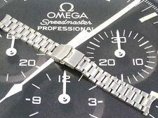 Correa de pulsera de acero inoxidable para OMEGA SEAMASTER SPEEDMASTER 20mm Reloj Nuevo