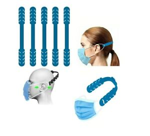 Extension Sangle Masque protection Oreilles Crochet Antidérapant fixation 5 Pcs