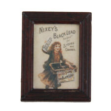 Dollhouse Miniature Framed Girl Newspaper Picture Wall Painting 12th