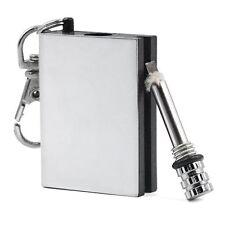 Permanent Metal Match Box Lighter Striker Gadget Military Outdoor Keyring Flame