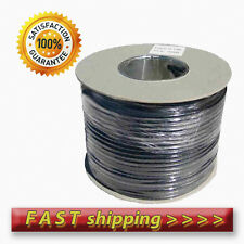 100m RG6 Black Satellite Aerial Cable Digital Coax Sky Saorview Freesat Coaxial