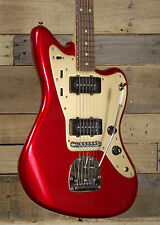 Squier Deluxe Jazzmaster Electric Guitar Candy Apple Red Finish w/ Tremolo