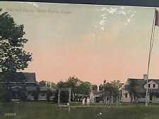 Postcard Early View of Harvard Camp-Harvard-Yale Regatta in Gales Ferry, CT.  T4