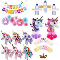 Jumbo Unicorn Rainbow Balloons Set Birthday Foil Balloon Baby Shower Party Decor