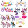 Jumbo Unicorn Rainbow Balloons Set Birthday Foil Balloon Baby Shower Party Decor