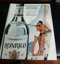 SEXY 1980 Ronrico Rum Ad - Reflects Puerto Rico man cave art