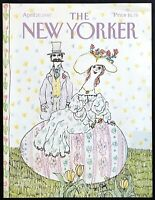 1987 Couple Posing Giant Easter Egg by Wm Steig April 20 New Yorker COVER ONLY
