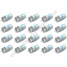 20 x Blue 5v 10mm T10 Wedge Base LED Bulbs for Arcade Push Buttons - MAME