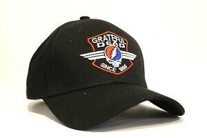 New Grateful Dead Black Baseball Hat Dad Cap Since 1965 Embroidered Logo
