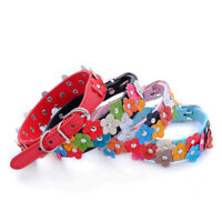 PU Leather Puppy Dog Flower Collar Cat Neck Strap For Pets Necklace Accessories
