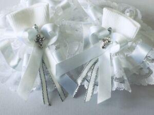 Handmade extra frilly diamanté cross baby/girls socks christening holy communion
