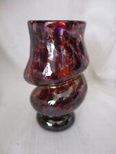 Dan J. Van Antwerp art glass Twisted vase purple red Vista, CA 2005