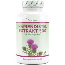 Mariendistel Extrakt  - 180 Kapseln 500mg - 80% Silymarin - 100% Mariendistel