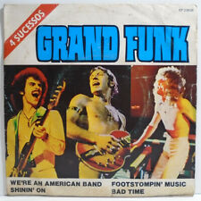"GRAND FUNK RAILROAD 4 SUCESSOS BRAZIL EXCLUSIVE 7"" 4 TRACK EP 1975 Capitol"