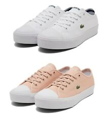 Lacoste Women Ziane Plus Sneakers Low Top Canvas Lace Up Casual Comfort Shoes