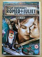 Romeo Juliet DVD 1996 Shakespeare Film Classique Largeur / Leonard Dicaprio Spe