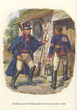 AK: Postillione der Großherzoglich Hessischen Post 1820 mit Briefmarke + Sonder