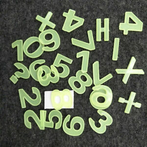 26pc Numbers Arithmetic symbols 3D Glowing Wall Stickers Green Light Home Decor
