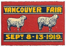1919 Vancouver Fair - very fresh mint never hinged