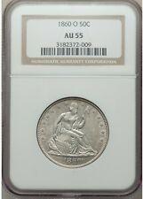 1860 O Seated Liberty Half Dollar NGC AU55
