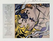 ROY LICHTENSTEIN HAND SIGNED SIGNATURE * WE ROSE UP SLOWLY *  PRINT W/ C.O.A.