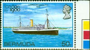 Bermuda 1980 50c London 80 SG418w Wmk Crown to Right of CA V.F MNH