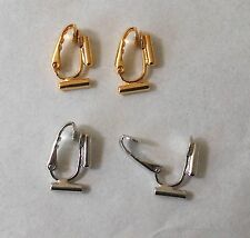 Earring Converters 2 Way Pierced to Clip On 2 pair Goldtone and  Silvertone