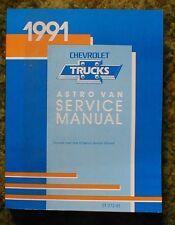 1991 Chevy Astro Van Shop Manual 91 Chevrolet Service