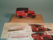 1931 CAMPBELL'S  SOUP DELIVERY TRUCK DANBURY MINT DIECAST 1:24 WITH DISPLAY CASE