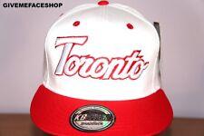 Toronto Blanco GORRA snapback, plano Peaks , Borde Sombrero, Hip Hop Bling