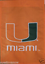 University of Miami Hurricanes Athletics Applique Flag NCAA Licensed College