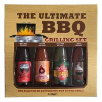 Ultimate BBQ Grilling Sauce Sauces Gift Set Assorted Flavours 4 x 48g Bottles