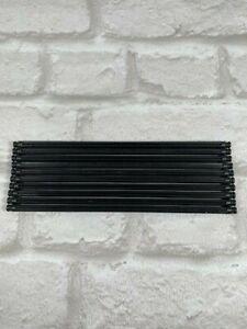 Group of 10 long Black rods 19cm Straight K'NEX Pieces..