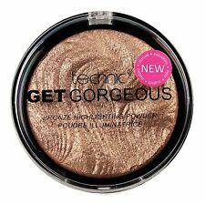 Technic Get Gorgeous Highlighting Powder Face Highlighter Shimmer Compact Bronze