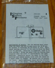 """Islington Station Products HO #260-303A Staley Black """"Beer Can"""" Tank (Decal)"""