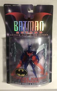 BATMAN BEYOND FUTURE KNIGHT BATMAN W/Glider Wings & Electro-Swords 99 Kenner NIP