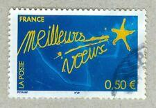 FRENCH POSTAGE - MEILLEURS VOEUSE STAMP 0,50 LA POSTE 2004 FRANCE