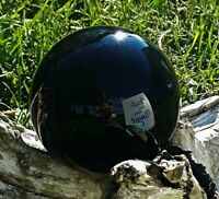 Obsidian Crystal Ball Wood Stand 60mm Divination Gazing Sphere Scrying Orb
