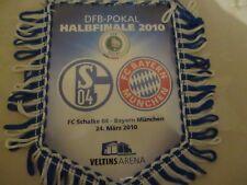 FC Schalke 04 Original DFB-POKAL HALBFINALE 2010 Wimpel,Banner 2009/10 Neu