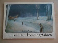 altes DDR Bilderbuch Pappbuch Ein Schlitten kommt gefahren Morgenstern