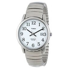 Timex T2h451 Mens White Silver Easy Reader Watch